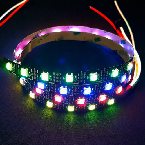 [NS-LED-ST-060]Rainbow STRIP double adhesive Tape / 1m 60LEDs